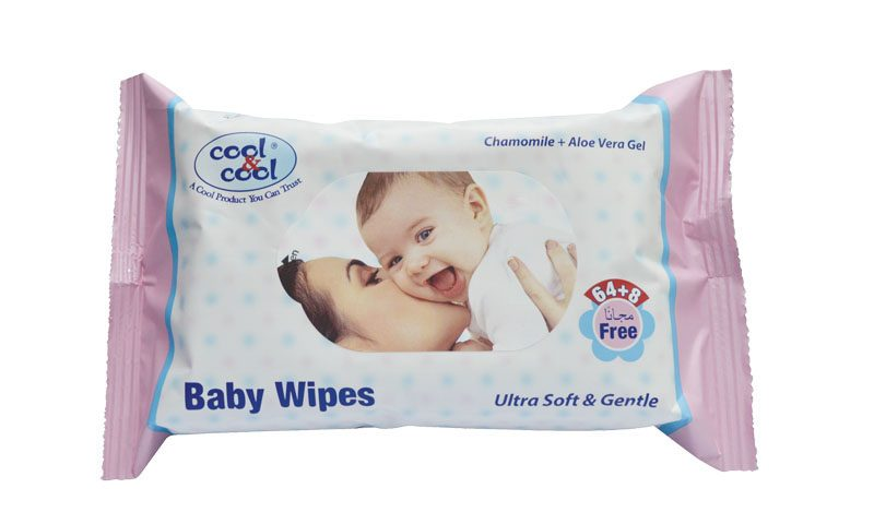 Baby Wipes Ultra Soft Gentle 64+8