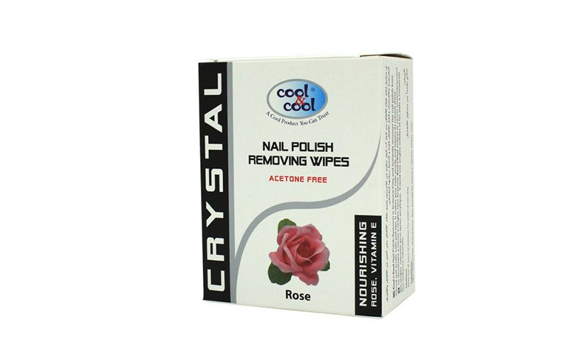 Nail Polish Removing Wipes Rose 5's (Acetone free)