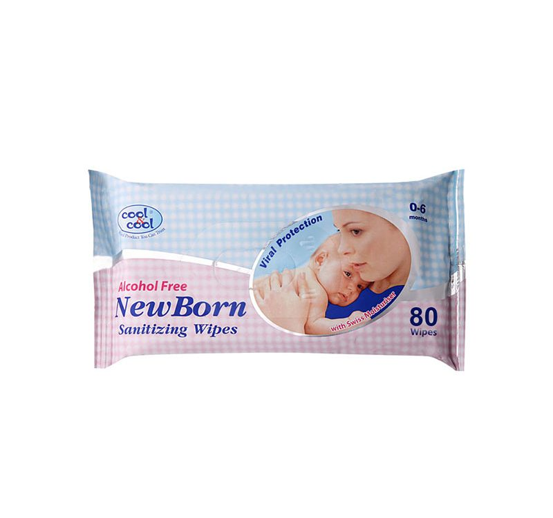 New Born Sanitizing Wipes 80's