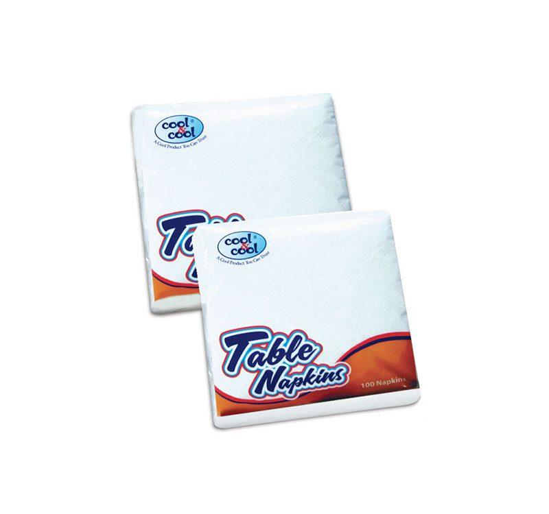 Luxury Paper Napkins White 100s